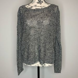 EILEEN FISHER | Gray Chunky Waffle Knit Sweater